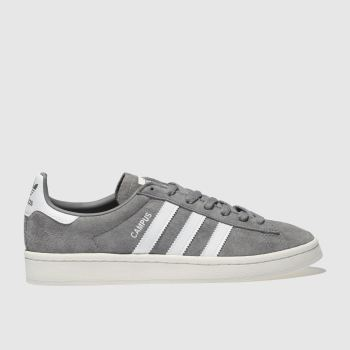 Adidas Grey CAMPUS SUEDE Trainers