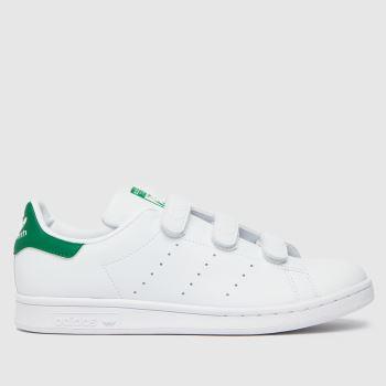 adidas White & Green Stan Smith Primegreen Womens Trainers
