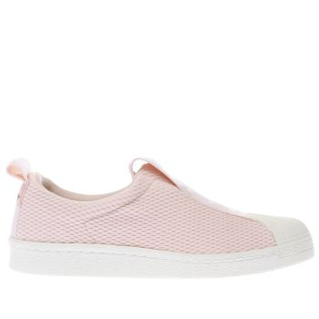 ADIDAS PALE PINK SUPERSTAR BW35 SLIP-ON TRAINERS