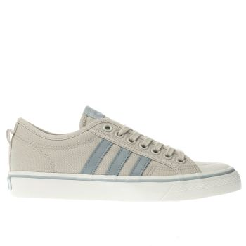 ADIDAS BEIGE NIZZA LOW TRAINERS