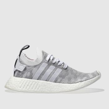 Adidas Light Grey NMD_R2 PRIMEKNIT Trainers