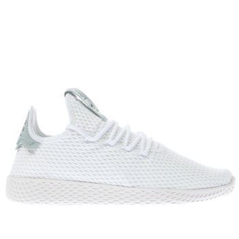 womens white   green adidas pharrell williams tennis hu trainers  dabc4cabb6