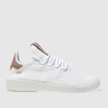 womens white   pink adidas pharrell williams tennis hu trainers  9cd2e27c1c