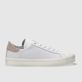 Adidas White & Beige Court Vantage Womens Trainers