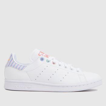 adidas White & Purple Stan Smith Primegreen Womens Trainers