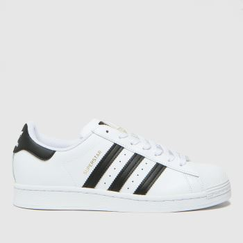 adidas White & Black Superstar Womens Trainers