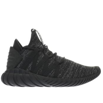 ADIDAS BLACK TUBULAR DAWN TRAINERS