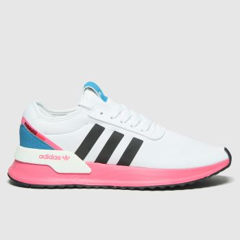 adidas White & Pink U Path Womens Trainers