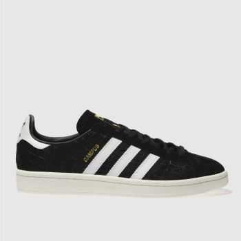 Adidas Black & White Campus Snake Womens Trainers