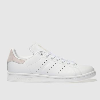 Adidas White   Pink Stan Smith Womens Trainers 14cfdc54a3