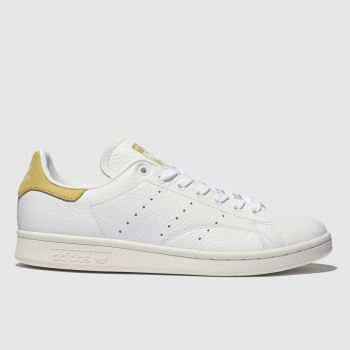 c1129509f1e36 Adidas White   Yellow Stan Smith Womens Trainers