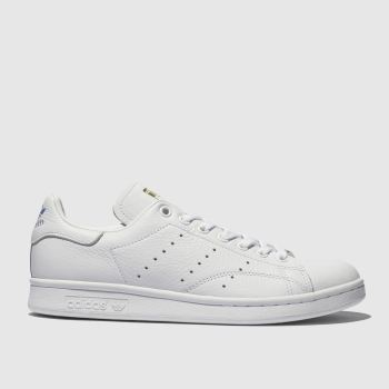 Adidas White & Blue Stan Smith Womens Trainers