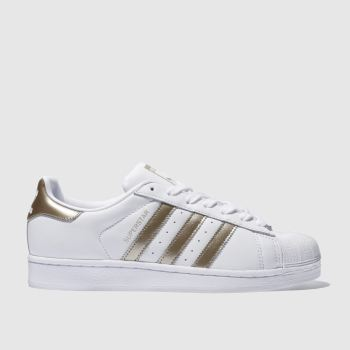 Adidas Weiß-Gold Superstar c2namevalue::Damen Sneaker