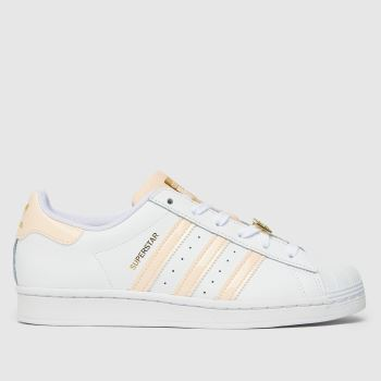adidas White & Pink Superstar Womens Trainers
