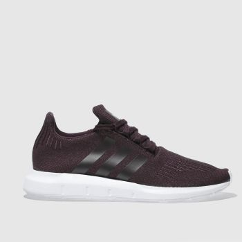 womens burgundy adidas swift run glitter trainers  fb1e99c004