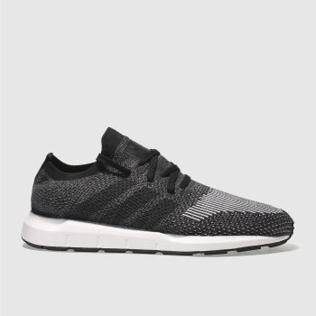 Adidas Black & White SWIFT RUN PRIMEKNIT Trainers