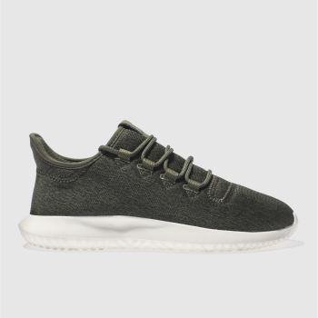 ADIDAS DARK GREEN ADI TUBULAR SHADOW TRAINERS