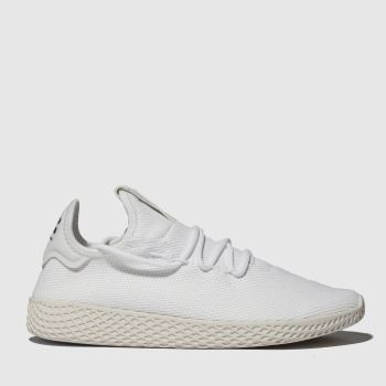 Adidas White & Beige Pharrell Williams Tennis Hu Womens Trainers