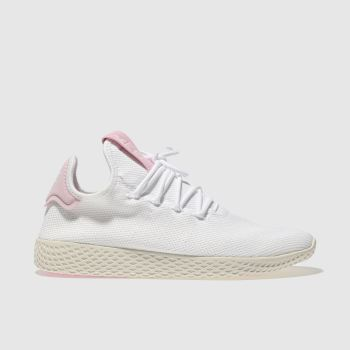 Adidas White & Pink Pharrell Willliams Tennis Hu Womens Trainers