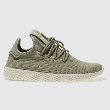 ADIDAS KHAKI PHARRELL WILLIAMS TENNIS HU TRAINERS