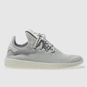 Adidas Grey Pharrell Williams Tennis Hu Womens Trainers