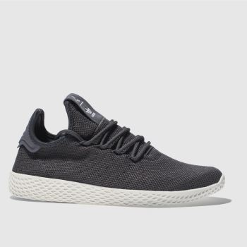 ADIDAS DARK GREY PHARRELL WILLIAMS TENNIS HU TRAINERS