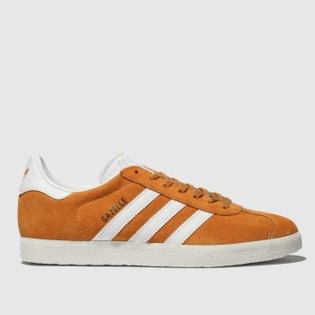 f4b3e3e345cc Adidas Orange Gazelle Suede Womens Trainers