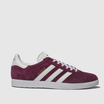 Adidas Burgundy Gazelle Suede Womens Trainers