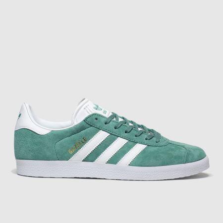 Womens Green adidas Gazelle Suede