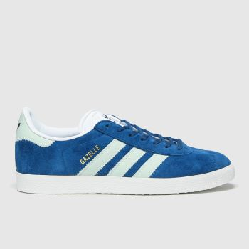 adidas Turquoise Gazelle Suede Womens Trainers