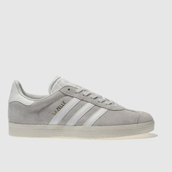 Adidas Light Grey Gazelle Suede Womens Trainers