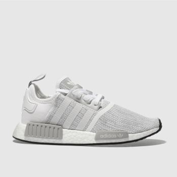 aeeee9bc07b4 womens white   grey adidas nmd r1 trainers