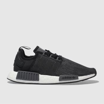 ADIDAS GREY & BLACK NMD R1 TRAINERS