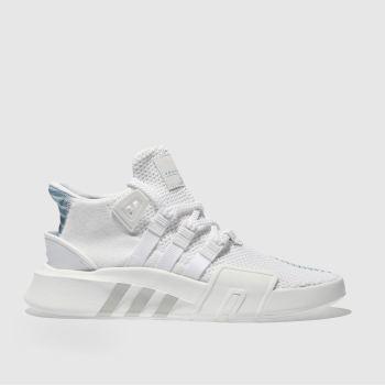 reputable site f7d11 530b4 womens white & pl blue adidas eqt bask adv trainers | schuh