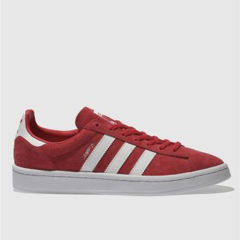 Adidas Red Campus Suede Womens Trainers