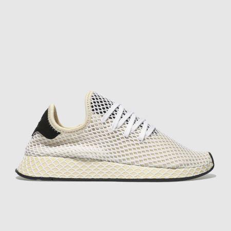 donne bianche adidas deerupt runner formatori schuh & beige