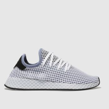 Adidas White & Blue Deerupt Runner Womens Trainers