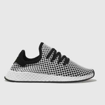 Adidas Black & White Deerupt Runner Womens Trainers