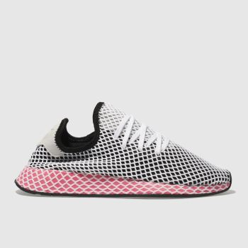 ADIDAS BLACK & PINK DEERUPT RUNNER TRAINERS