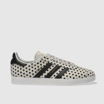 Adidas White Gazelle Leather Polka Dots Womens Trainers