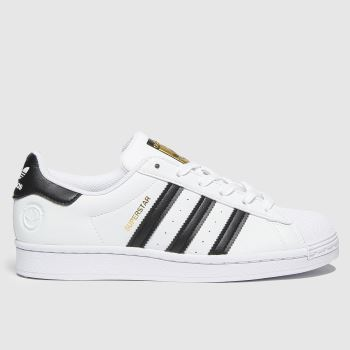 adidas White & Black Superstar Vegan Womens Trainers#