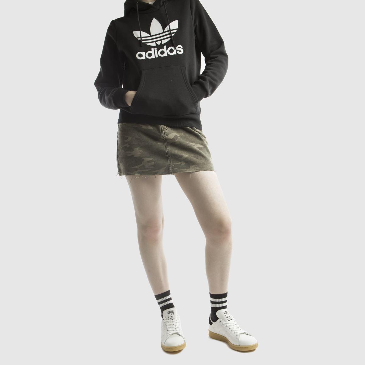 Damen Weiß-schwarz adidas Stan Smith Leather Gum Sneaker | schuh Gute Qualität beliebte Schuhe