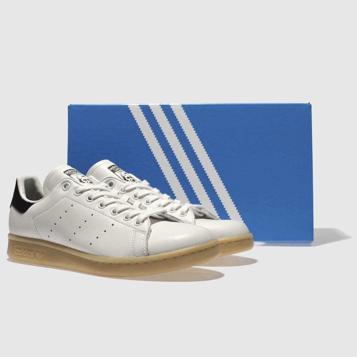 Damen schuh Weiß-schwarz adidas Stan Smith Leather Gum Sneaker | schuh Damen Gute Qualität beliebte Schuhe e0abcf
