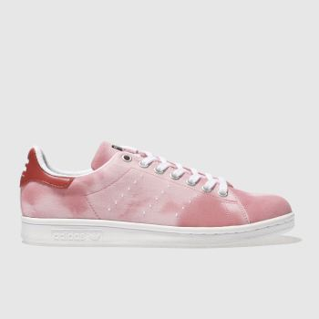 ADIDAS RED STAN SMITH PHARRELL HU HOLI TRAINERS