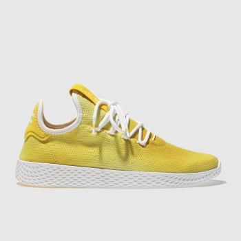 Adidas Yellow Tennis Pharrell Hu Holi Womens Trainers