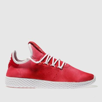 Adidas Red Tennis Pharrell Hu Holi Womens Trainers