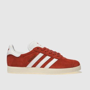 Adidas Red Gazelle Suede Womens Trainers f064fe2ee7
