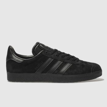 adidas Black Gazelle Suede Womens Trainers