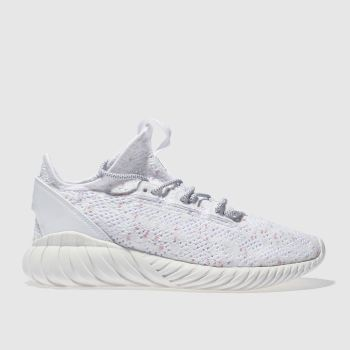 Adidas White Tubular Doom Sock Primeknit Womens Trainers
