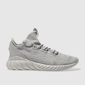 Adidas Grey Tubular Doom Sock Primeknit Womens Trainers